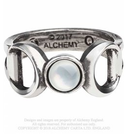 Alchemy Zinn Ring Dreifacher Mond