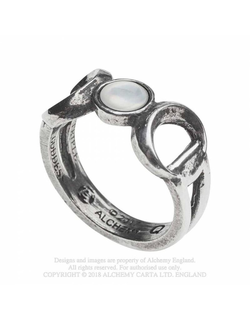 Alchemy Dreifacher Mond Zinn Ring