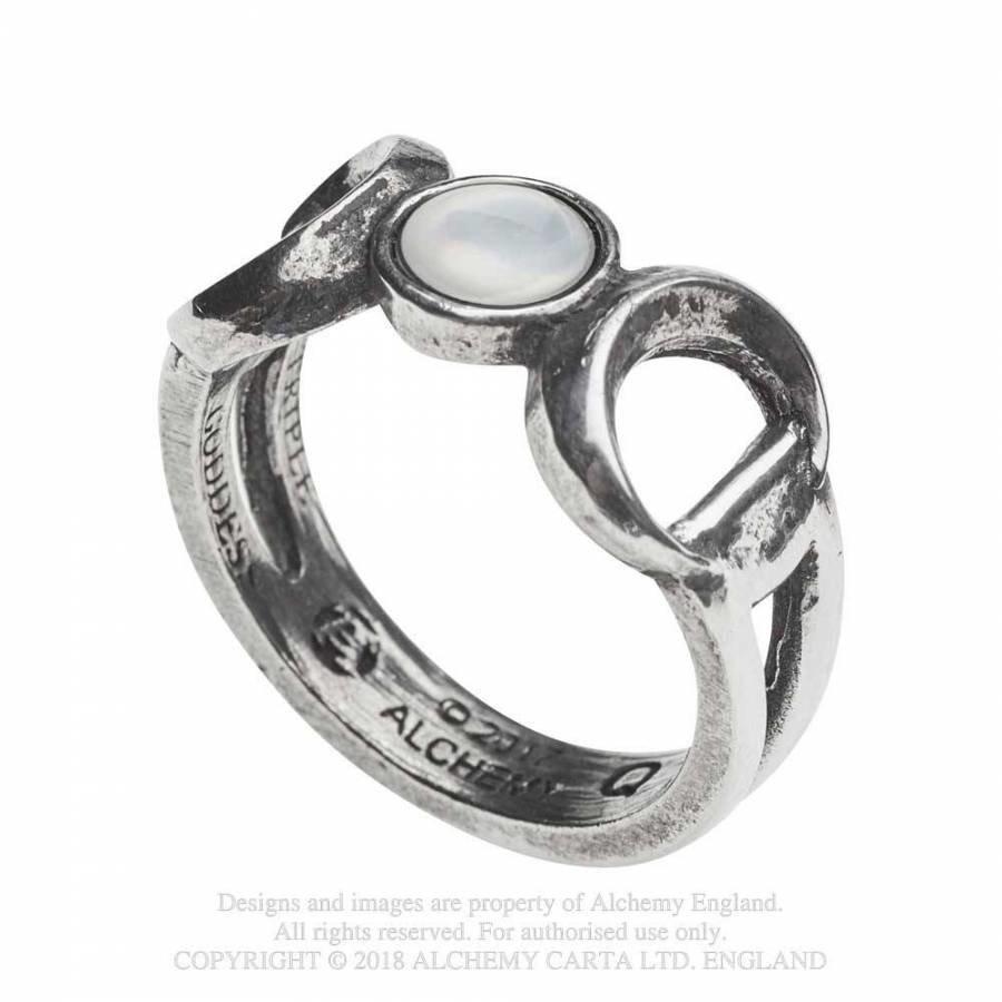 Dreifacher Mond Zinn Ring-2