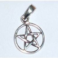 thumb-Pentagramm Anhänger, Sterling Silber, ca. 15 mm-3
