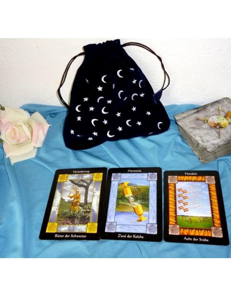 Aufbewahrung Tarot Beutel - Mondnacht, groß