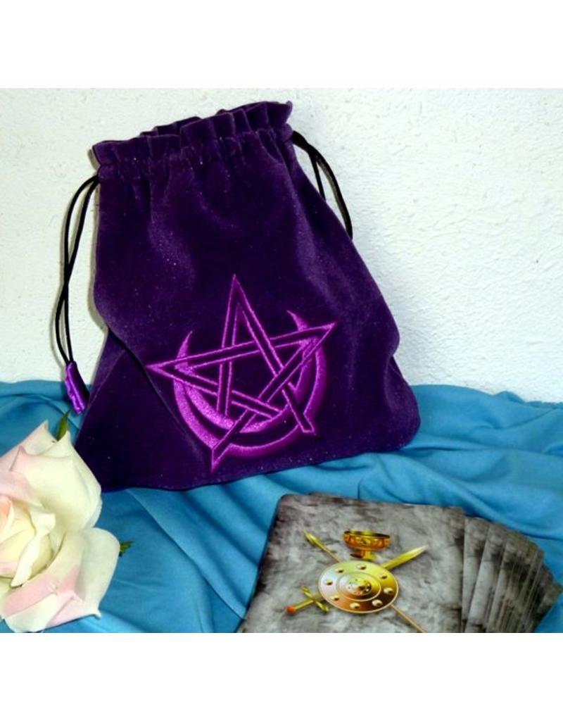 Pentagramme Tarotbeutel Halbmond/Pentagramm