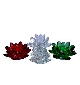 Lotus Kerzenhalter Kristall