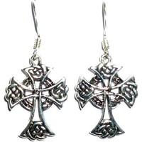 thumb-Ohrhänger mit keltischem Kreuz, 925-Silber-2