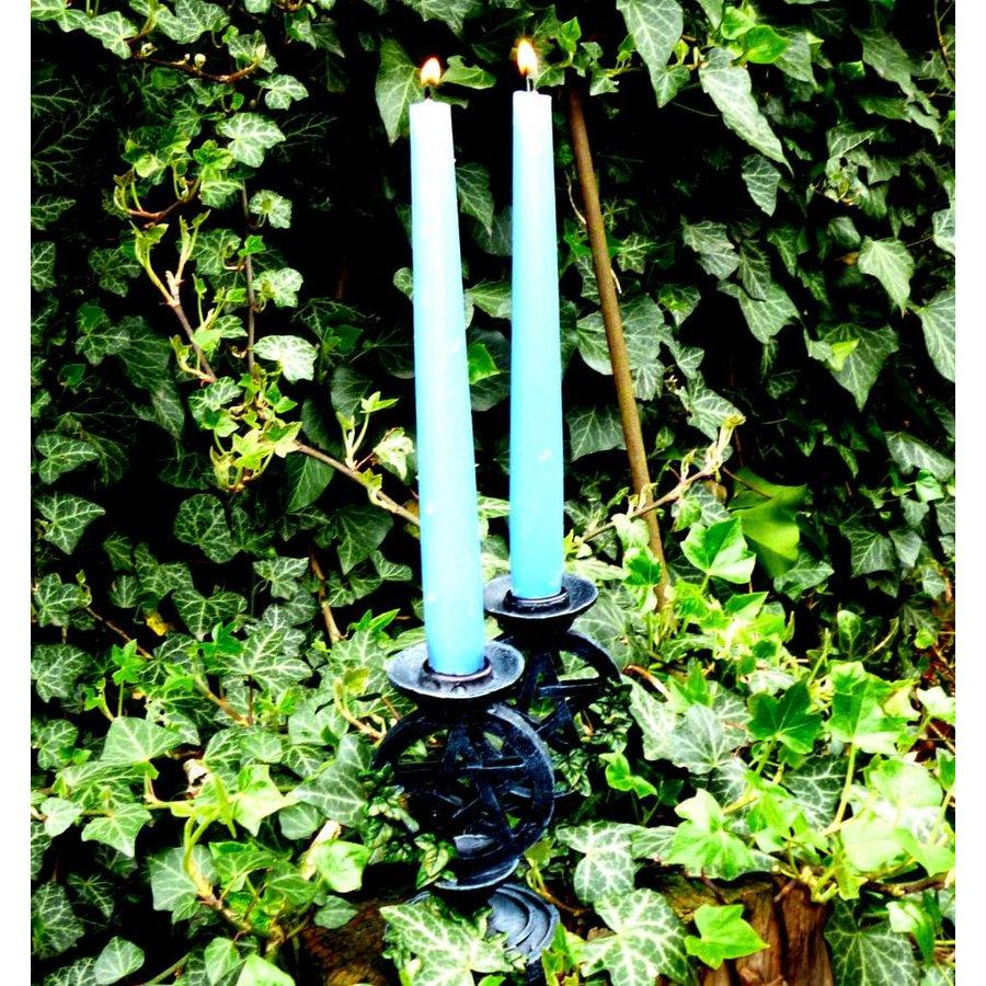 Kerzenständer Pentagramm mit Efeu-3