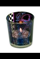 Teelichtgläser auch für Votivkerzen mit Pentagramm