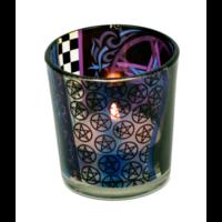 thumb-Teelichtgläser auch für Votivkerzen mit Pentagramm-2