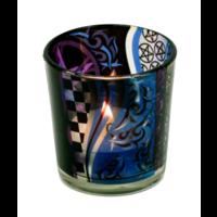 thumb-Teelichtgläser auch für Votivkerzen mit Pentagramm-3