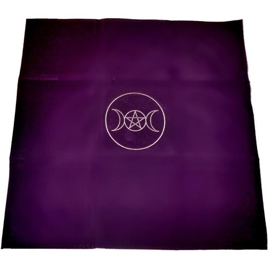 Tarot Decke Dreifacher Mond mit Pentagramm-1