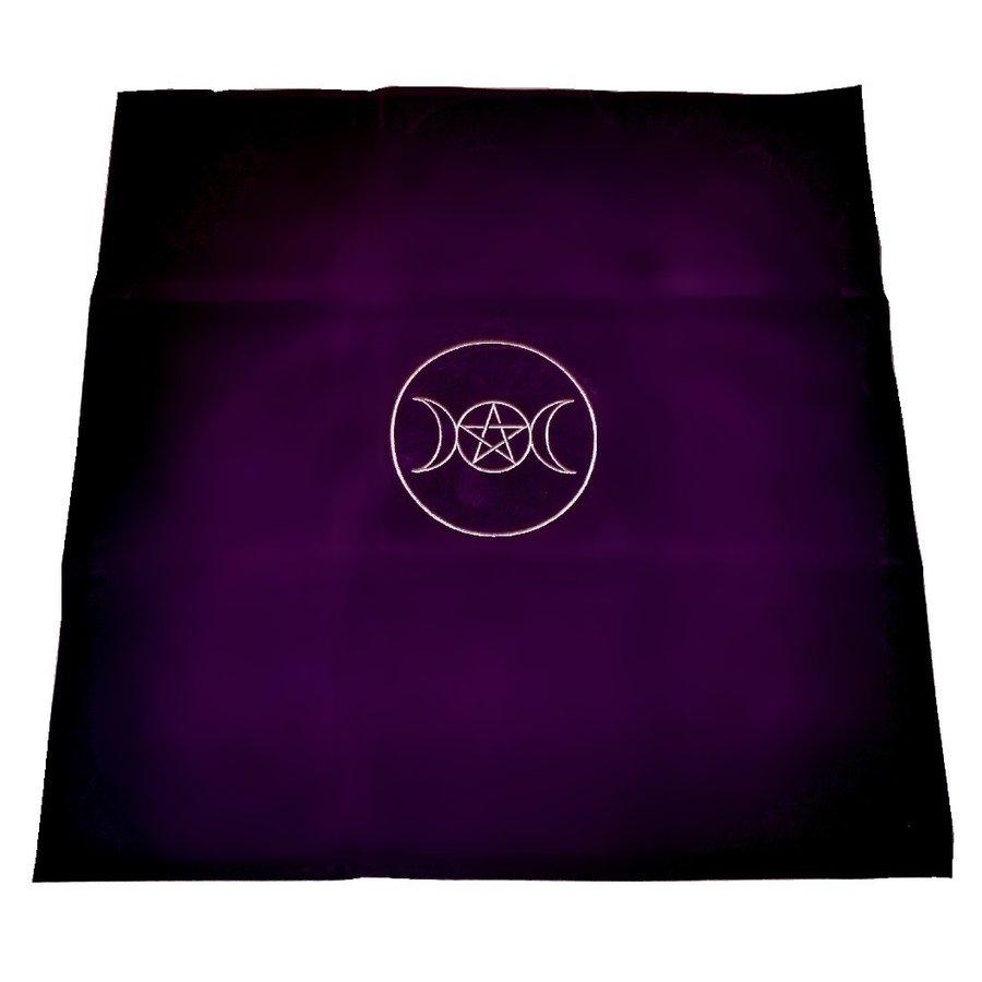 Tarot Decke Dreifacher Mond mit Pentagramm-2