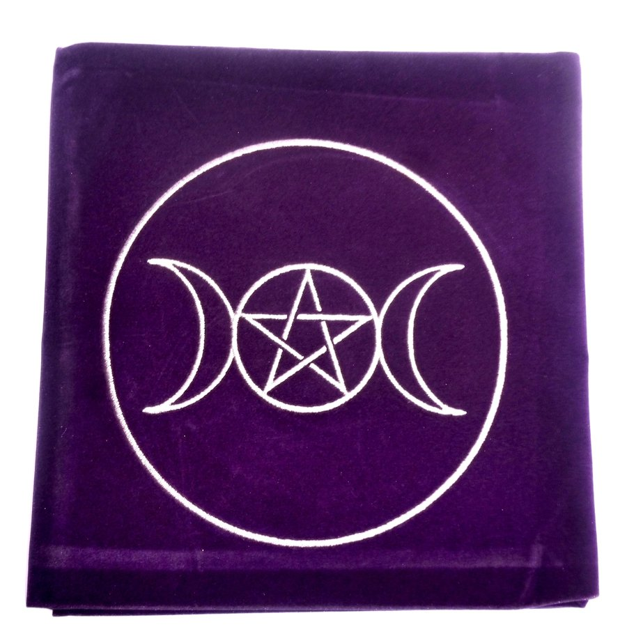 Tarot Decke Dreifacher Mond mit Pentagramm-3