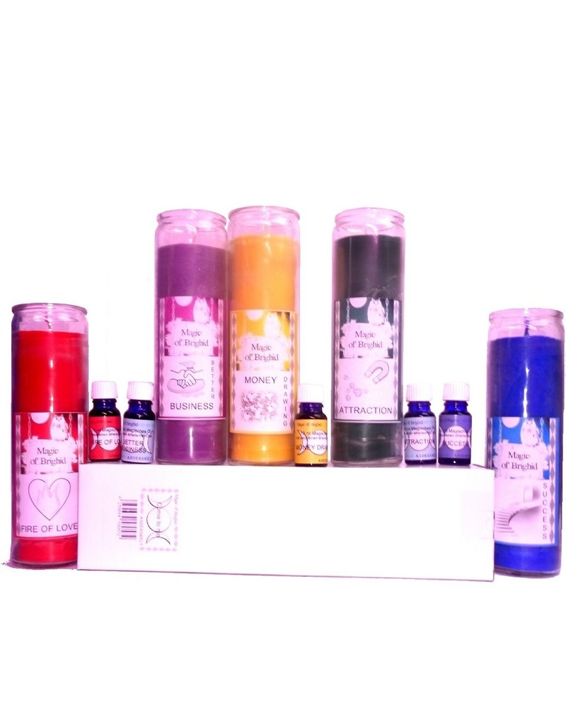 Magic of Brighid Magic Of Brighid Sets: Kerzen im Glas und Öle