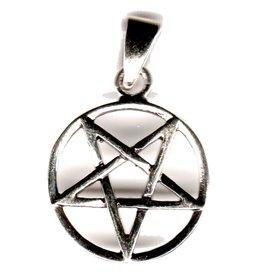 Pentagramm Anhänger Silber, 15 mm