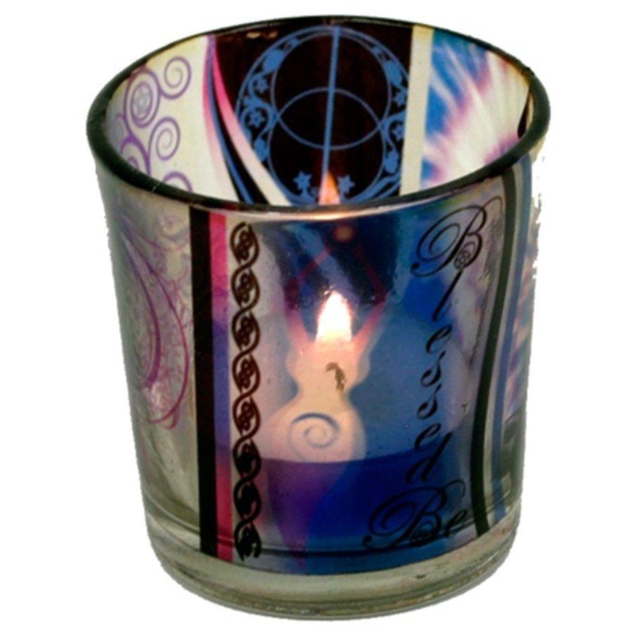 Teelichtgläser auch für Votivkerzen mit Wicca Elfe-2