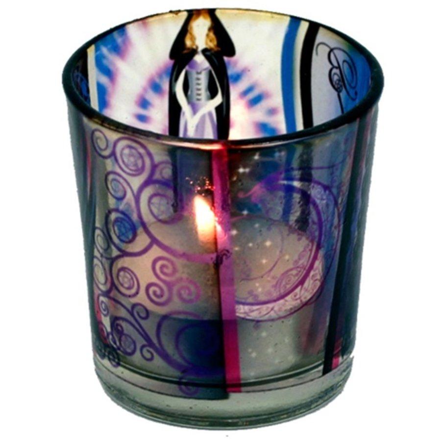 Teelichtgläser auch für Votivkerzen mit Wicca Elfe-3