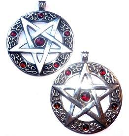 Großer Pentagramm Anhänger aus Zinn