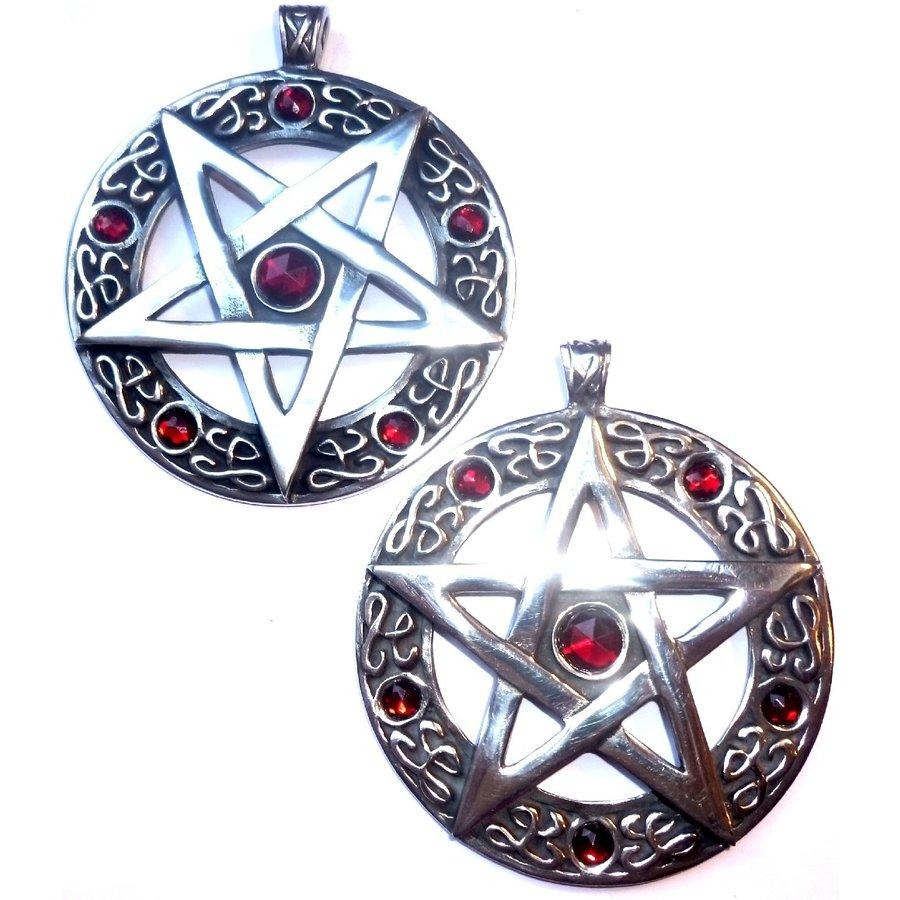 Pentagramm Amulett Anhänger, Groß-2