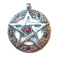 thumb-Pentagramm Amulett Anhänger, Groß-1