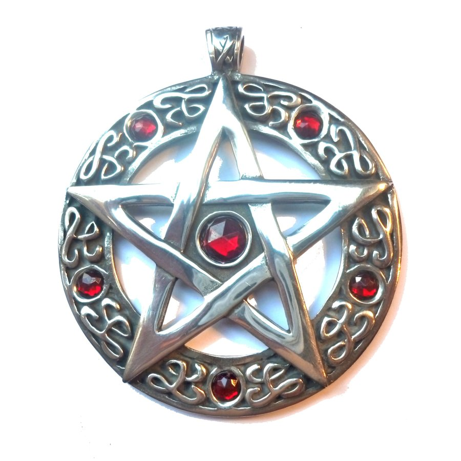 Pentagramm Amulett Anhänger, Groß-1