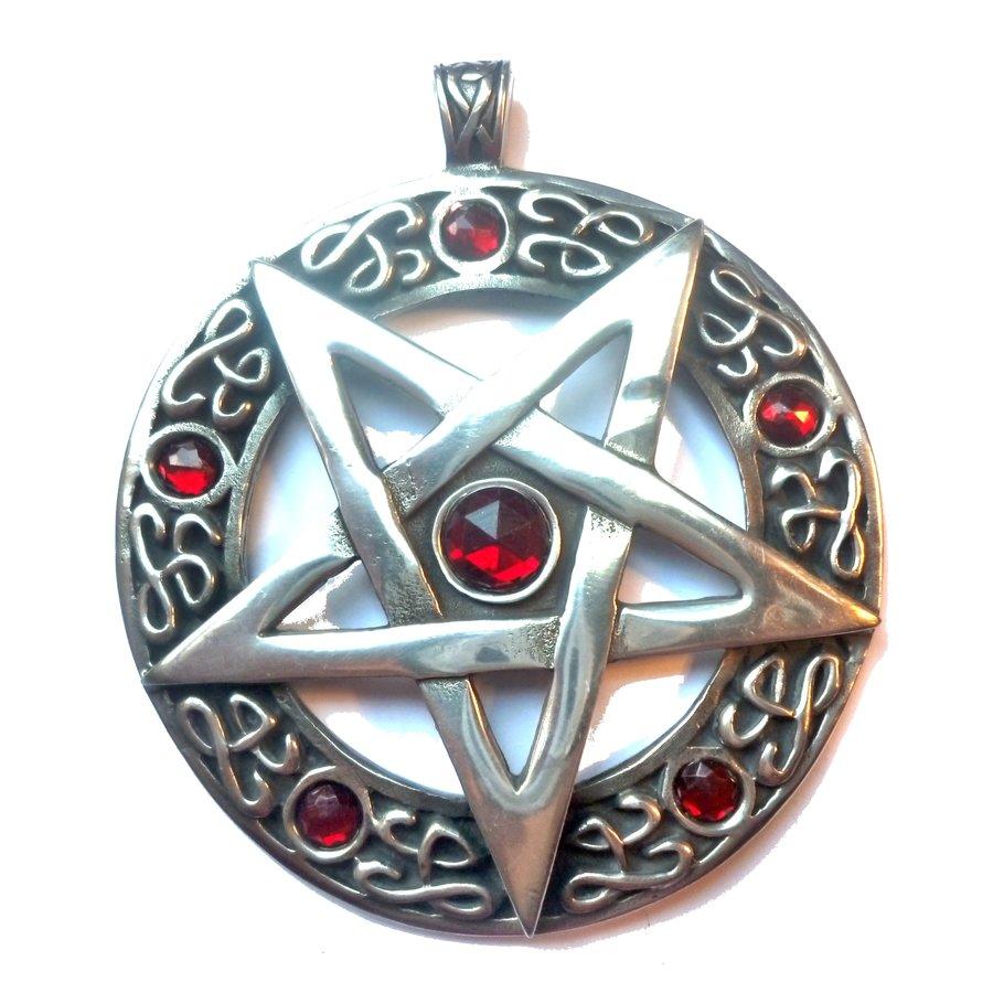 Pentagramm Amulett Anhänger, Groß-3