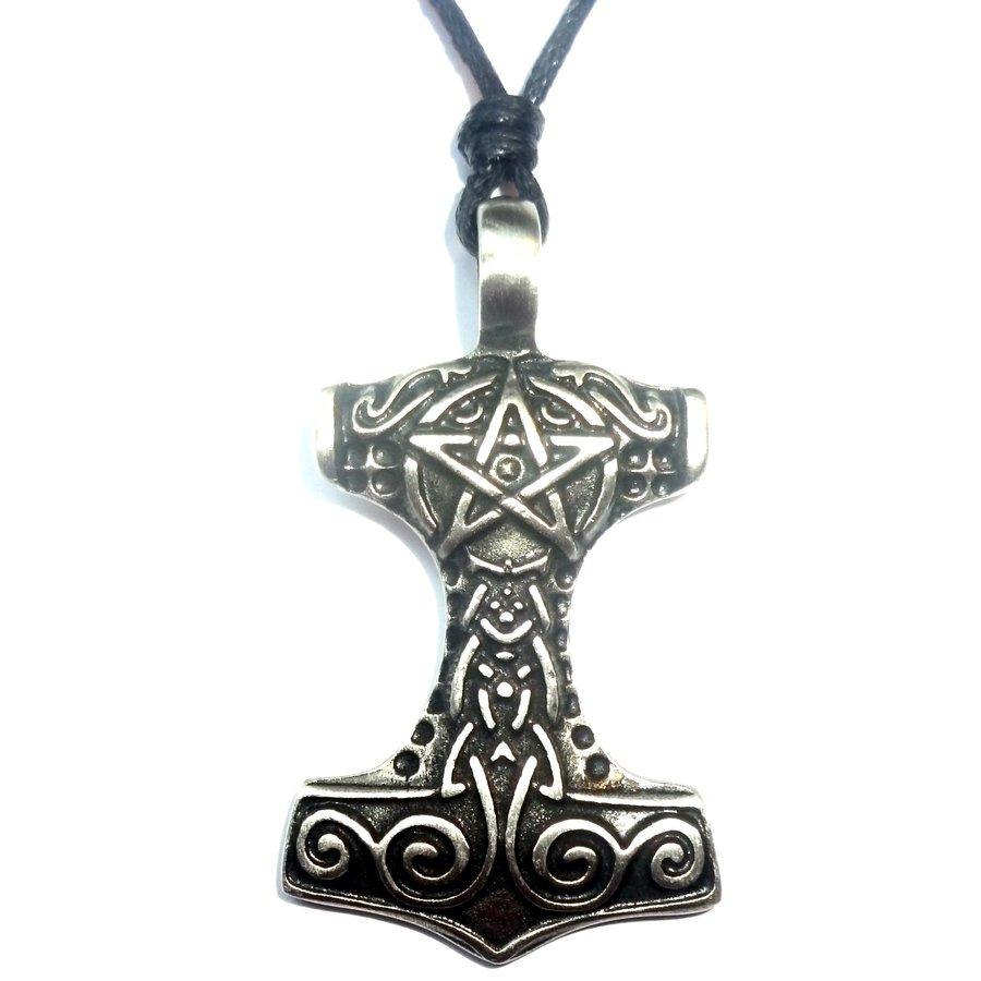 Thors Hammer mit Pentagramm-5