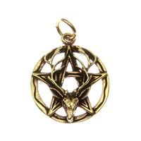 thumb-Pentagramm Anhänger aus Bronze mit Cernunnos-1