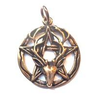 thumb-Pentagramm Anhänger aus Bronze mit Cernunnos-3