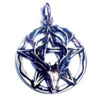 thumb-Pentagramm Anhänger aus Bronze mit Cernunnos-2