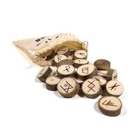 thumb-Holz Runenset Holz im Baumwollbeutel-2