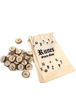 Holz Runenset Holz im Baumwollbeutel