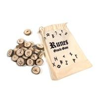 thumb-Holz Runenset Holz im Baumwollbeutel-3