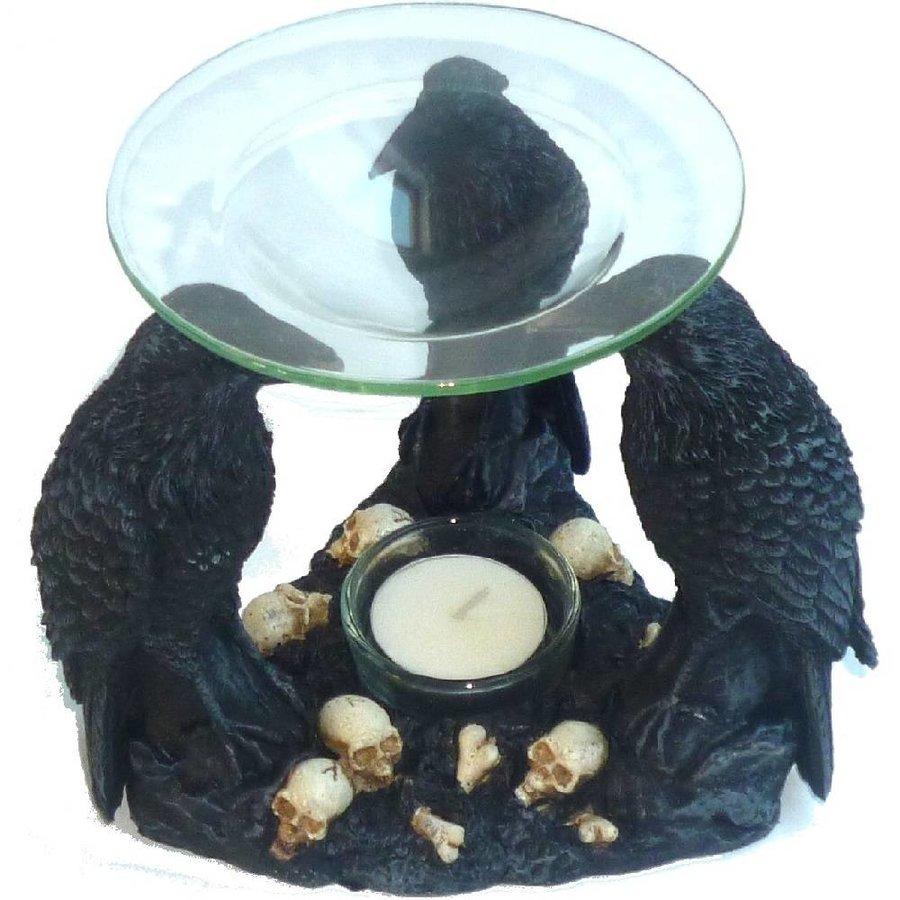 Duftlampe Aromalampe mit drei Raben-9