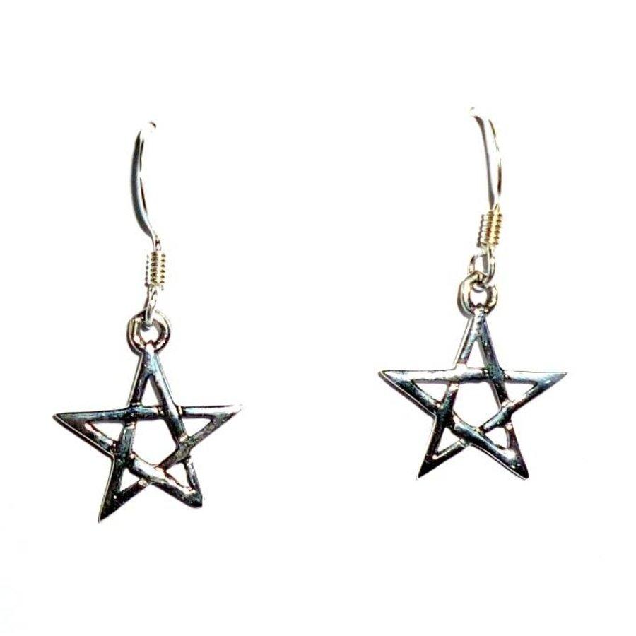 Ohrhänger mit Pentagramm-2