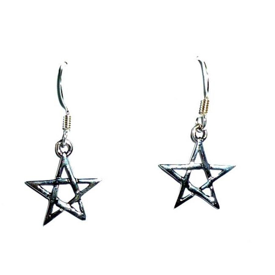 Ohrhänger mit Pentagramm-3