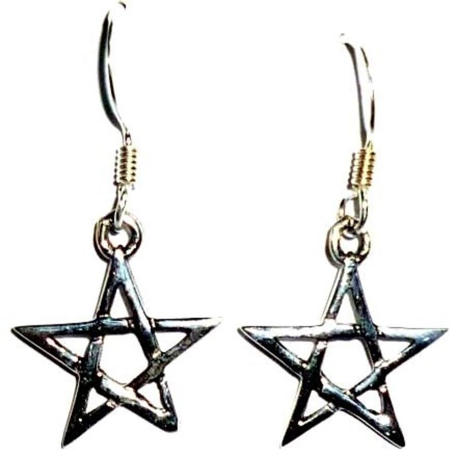 Ohrhänger mit Pentagramm-1