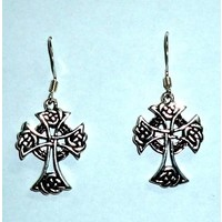 thumb-Ohrhänger mit keltischem Kreuz, 925-Silber-3