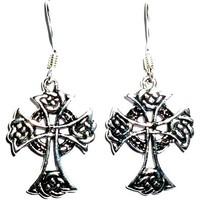 thumb-Ohrhänger mit keltischem Kreuz, 925-Silber-1