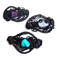 thumb-Haarclips mit Halbedelsteinen - mit Clip-2