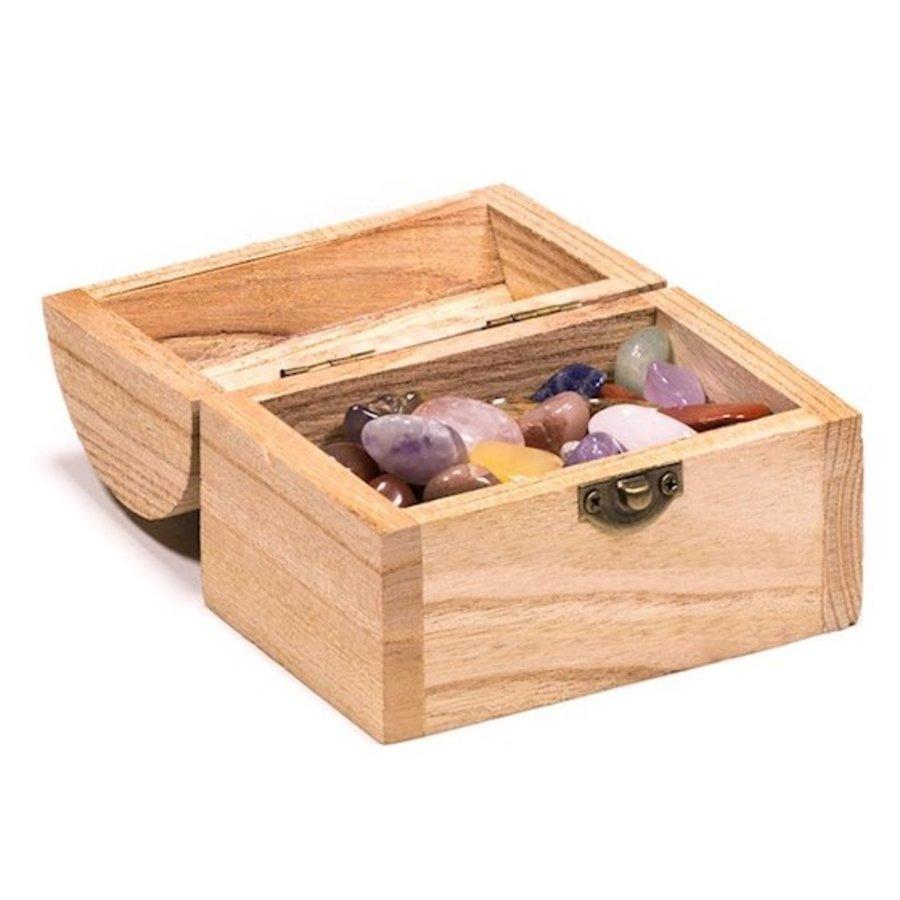 Holzkästchen mit Edelsteinen-6