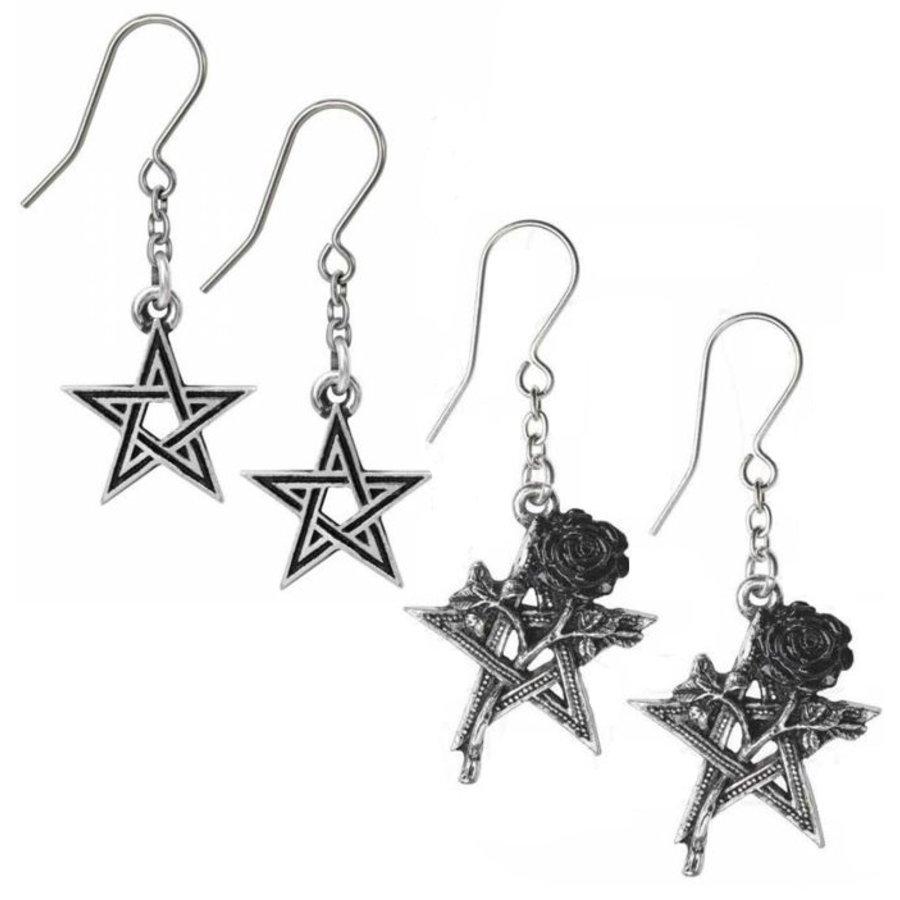 Zinn Ohrhänger Ruah Vered oder Black Star-2