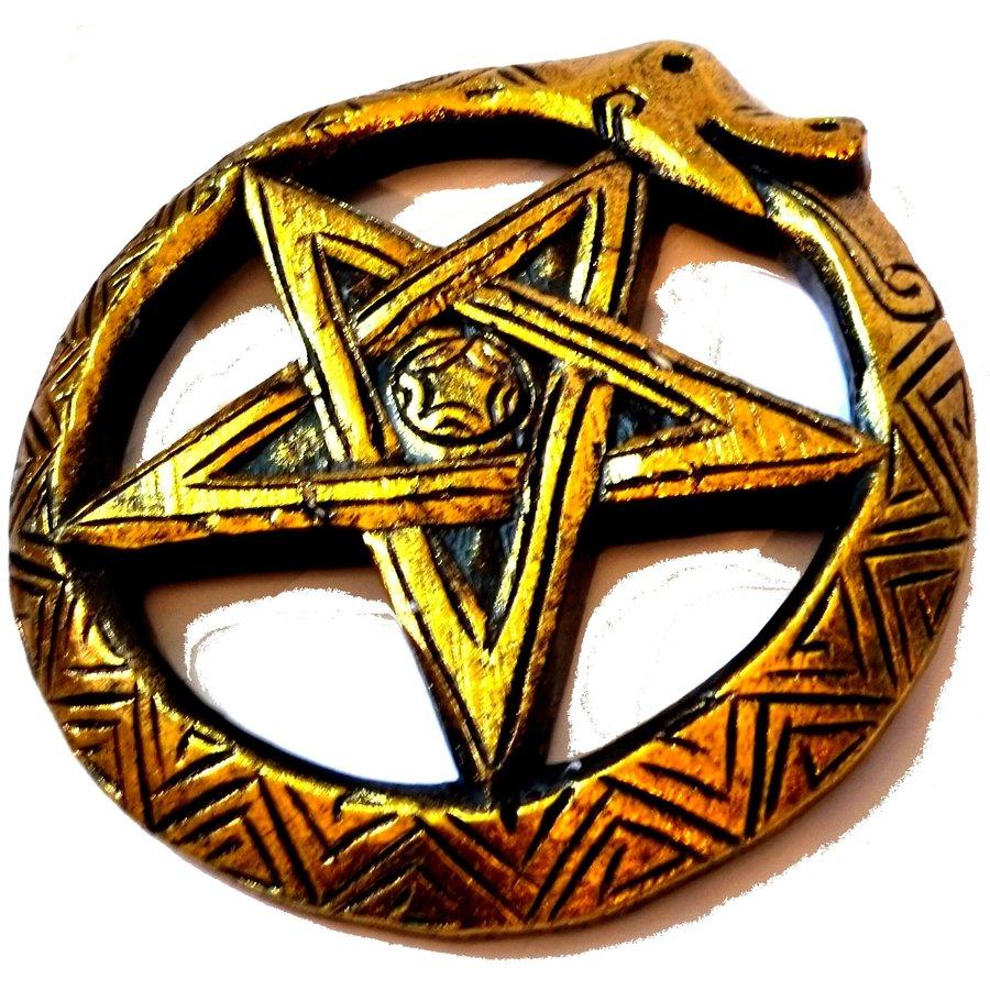 Wandrelief Schlangen-Pentagramm-2