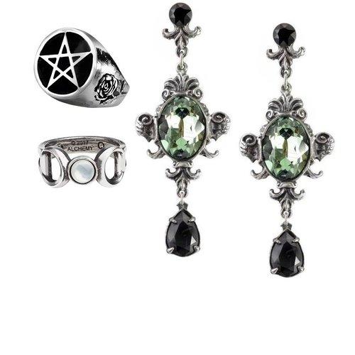 Gothic Ohrringe und Ringe