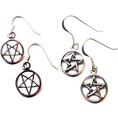 Pentagramm Ohrringe silber 925
