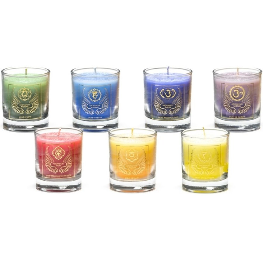 Chakra Kerzen im Glas-2