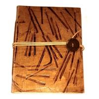 thumb-Schreibbuch mit Büffelledereinband-2
