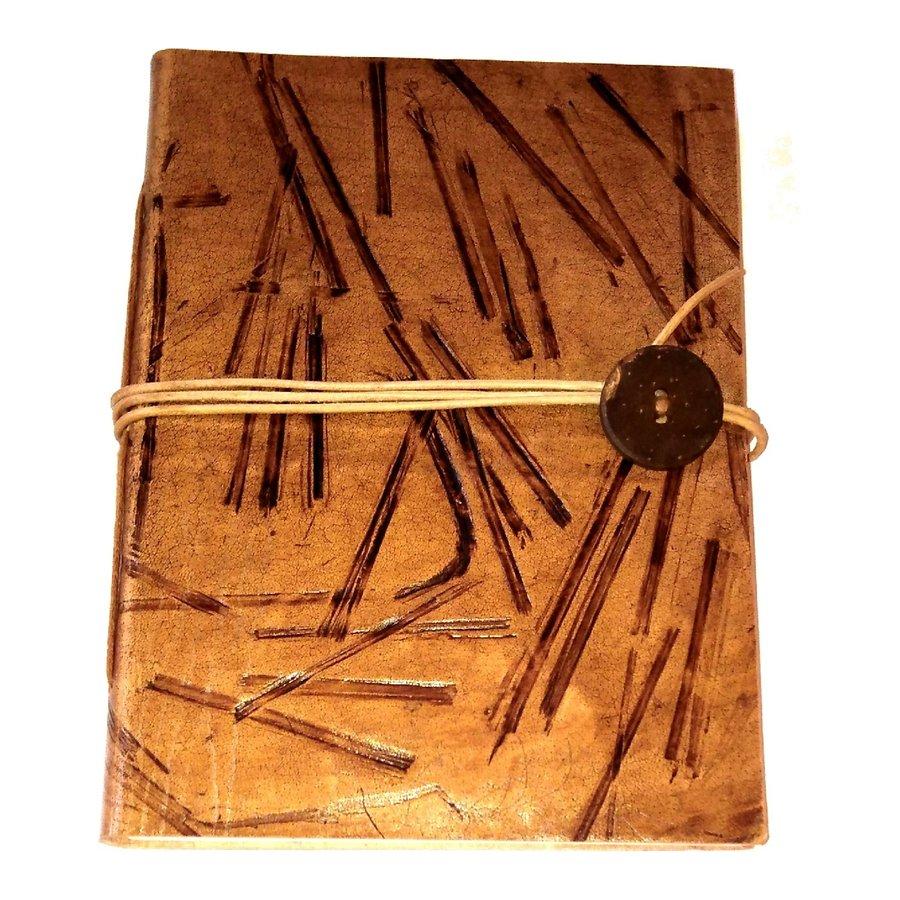 Schreibbuch mit Büffelledereinband-2