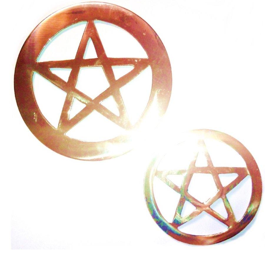 Pentagramm aus Messing,-3