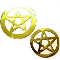 thumb-Pentagramm aus Messing,-2