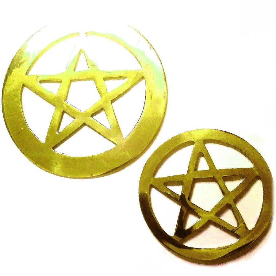 Pentagramm aus Messing,-2