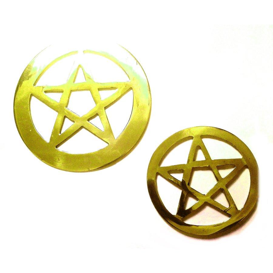 Pentagramm aus Messing,-4